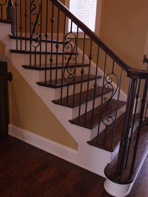 Wrought Iron Staircase Home Design Ideas Pictures