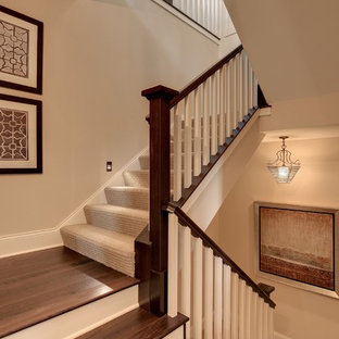 Classic wood staircase in Minneapolis.