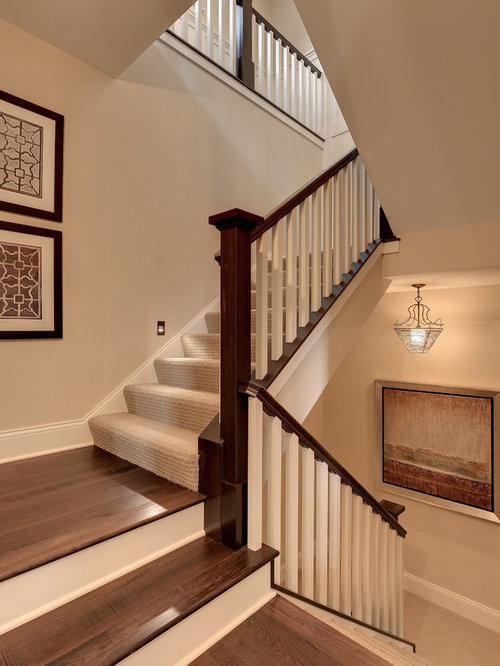 Nice Elegant Wooden Staircase Photo In Minneapolis
