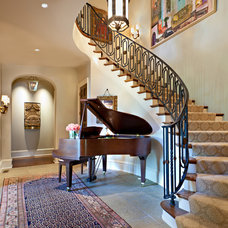 Traditional Staircase by Jason Arnold Interiors