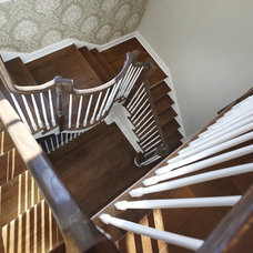 Traditional Staircase by Kristin Petro Interiors, Inc.