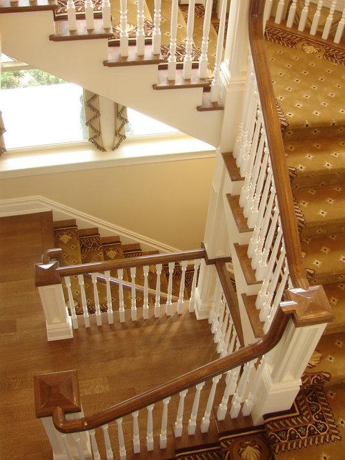 Hängele Treppenhaus teppich idee treppe