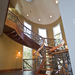 contemporary staircase by Oak Hill Iron