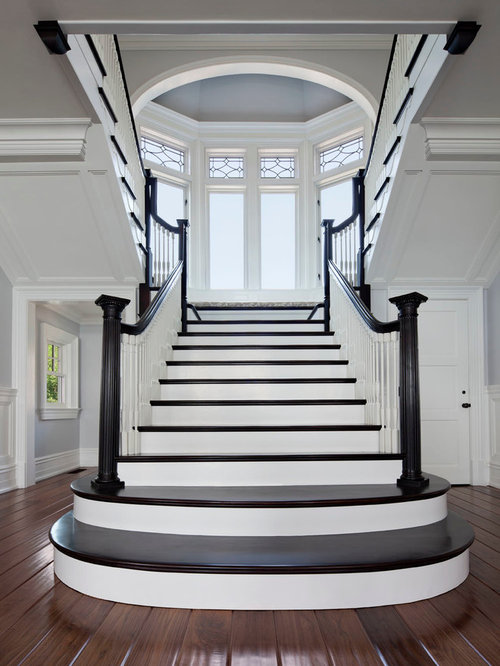 Black And White Staircase Houzz
