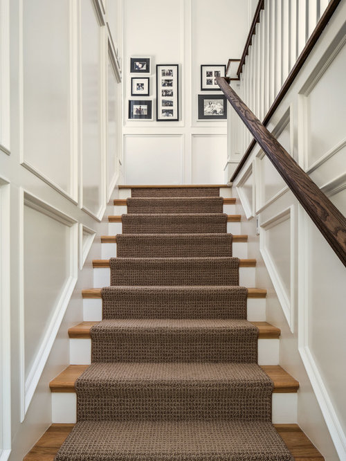 Attractive Traditional Wooden Straight Staircase Idea In Salt Lake City