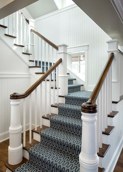 Traditional Staircase by Sharratt Design & Company