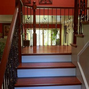 デンバーのトラディショナルスタイルのおしゃれな階段の写真
