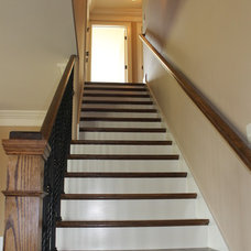 Traditional Staircase by Rusert Custom Homes
