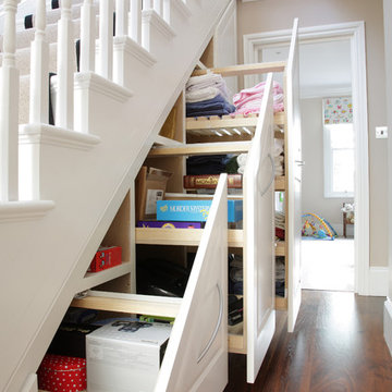 Traditional under stairs storage unit in London, UK