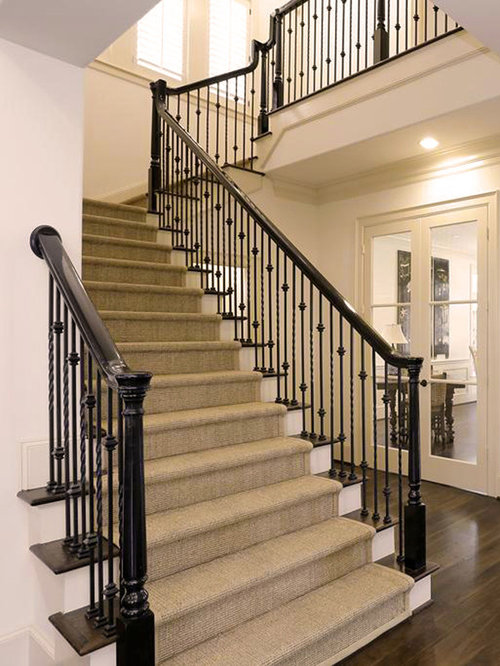 L Shaped Staircase Design Ideas Renovations Amp Photos