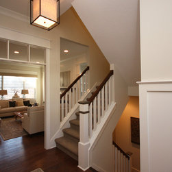 Split Level Staircase on front porch designs for tri level homes