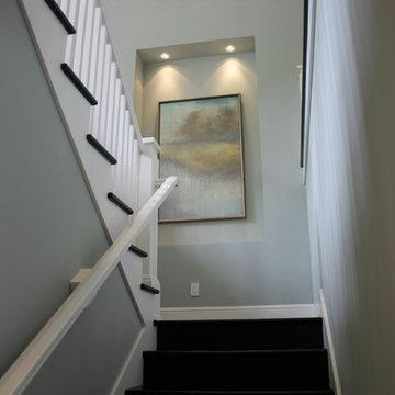 Transitional Den, Living Room & Built-ins