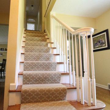 Transitional Farmhouse Custom Stair Runner