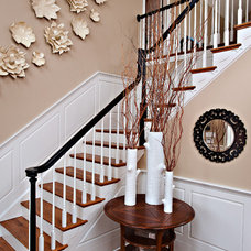 Transitional Staircase by CANDICE ADLER DESIGN LLC