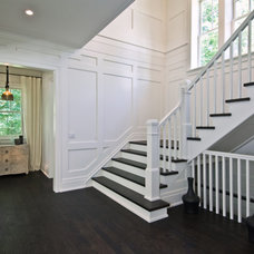 Transitional Staircase by Benco Construction