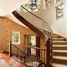 Transitional Entry by Garrison Hullinger Interior Design Inc.
