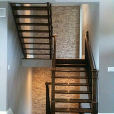 Transitional Staircase by Sanchez Homes
