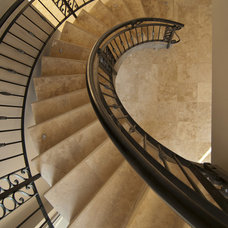 Traditional Staircase by Halo Stone Designs