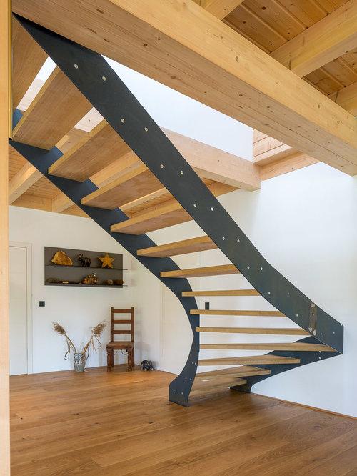 Halbgewendelte Treppen gewendelte treppen ideen design bilder houzz