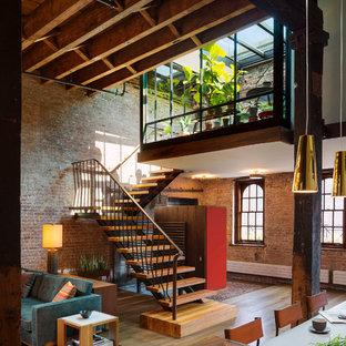 Industriell inredning av en trappa