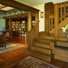 Craftsman Staircase by Gardner Mohr Architects LLC