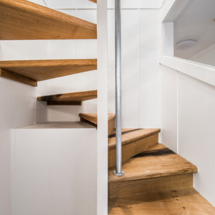 Staircase   Rustic Wooden Spiral Staircase Idea In Other