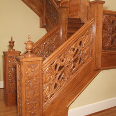 Traditional Staircase by Masterpiece Staircase and Millwork LLC