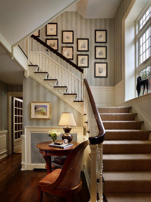 Inspiration For A Timeless Wooden L Shaped Staircase Remodel In Philadelphia