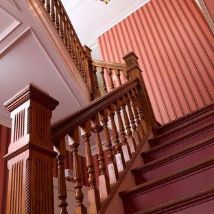 ニューヨークのヴィクトリアン調のおしゃれな階段の写真