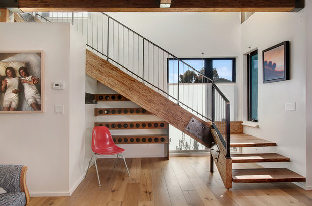 Contemporary Staircase by Jeri Koegel Photography