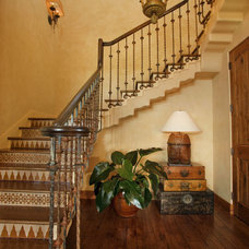 Mediterranean Staircase by J. S. Brown Design