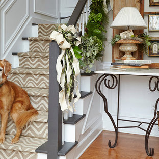 Inspiration for a cottage staircase remodel in Atlanta