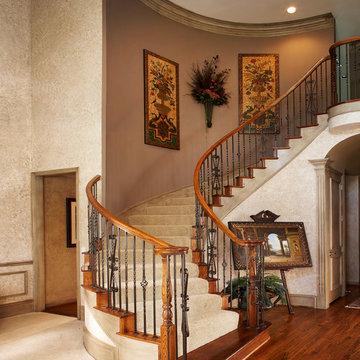 Tuscan Living Spaces - Elegant Stairway