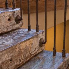 Mediterranean Staircase by Ellis Custom Homes LLC