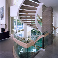 Modern Staircase by kevin akey - azd architects - michigan
