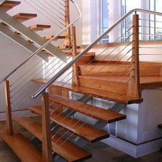 Modern Staircase by Ultra-tec Cable Railing by The Cable Connection