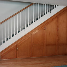 Traditional Staircase by Pacific Coast Custom Design