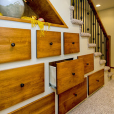 Traditional Staircase by Red House Remodeling