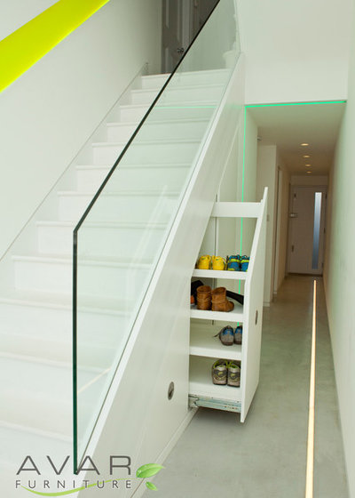 Contemporary Staircase by Bespoke Fitted Furniture London | Avar Furniture