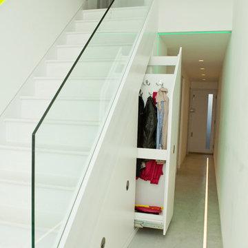 Under stairs storage solution