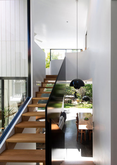 Modern Staircase by Christopher Polly Architect