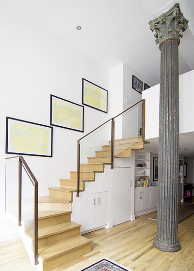 Contemporary Staircase by kimberly peck architect