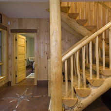 Rustic Staircase by Old Hampshire Designs Inc