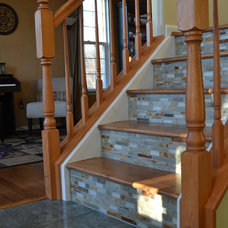 Eclectic Staircase by Conestoga Tile