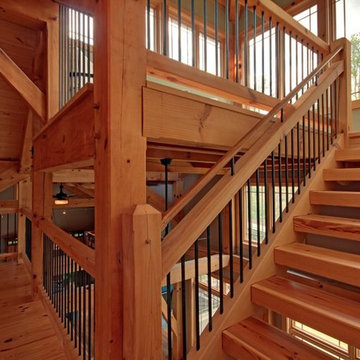 Up to the Timber Frame House Tower