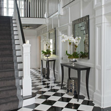Traditional Staircase by Susan Glick Interiors