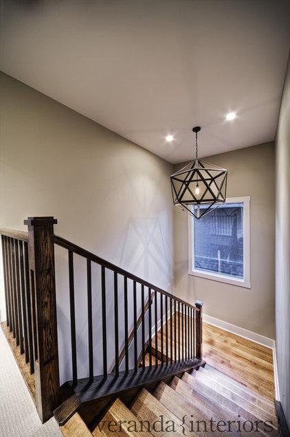 Contemporary Staircase by Veranda Estate Homes & Interiors