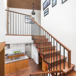 Inspiration for a contemporary staircase remodel in San Francisco