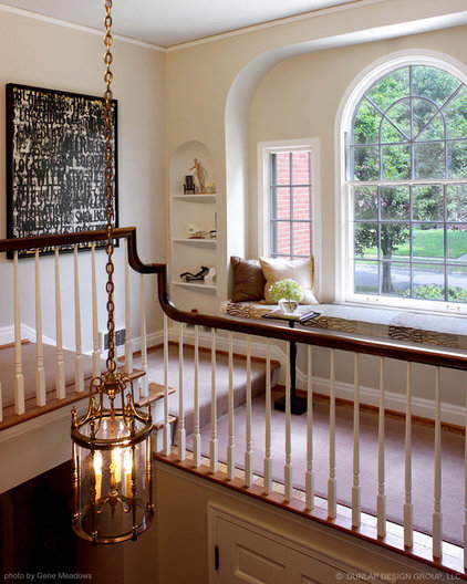 traditional staircase by Dunlap Design Group, LLC