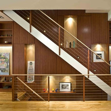 Contemporary Staircase by Edward Kozanlian Architect LLC
